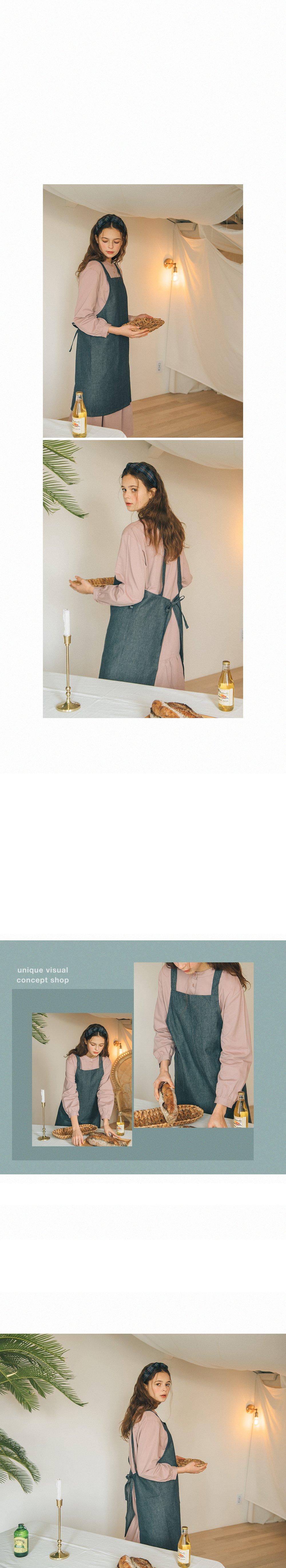 몽브릭(MONBRIC) 데님 에이프런
